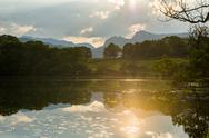 Sunset at Loughrigg Tarn near Ambleside in The Lake District National Park, Stock Photos