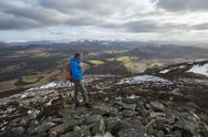 A view across the Cairngorms from the top of Creag Dubh near Newtonmore, Stock Photos
