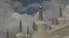 Tibetan Temple in Tibet Stock Footage