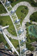 Aerial view of the London Eye, London, England, United Kingdom, Europe Stock Photos