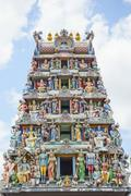 Sri Mariamman Temple in Chinatown, the oldest Hindu temple in Singapore with its Stock Photos