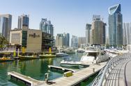 Dubai Marina, Dubai, United Arab Emirates, Middle East Stock Photos
