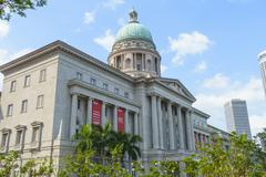 National Gallery Singapore occupying the former City Hall and Old Supreme Court Stock Photos