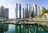 Dubai Marina, Dubai, United Arab Emirates, Middle East Stock Photos