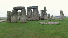 The world famous monoliths of Stonehenge in England Stock Footage