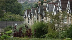 Typical English houses Stock Footage