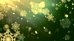 Heavenly Holiday Snowflakes Loopable Background Stock Footage