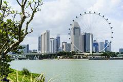 The Singapore Flyer ferris wheel, Marina Bay, Singapore, Southeast Asia, Asia Stock Photos