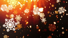 Holiday Snowflakes Red Loopable Background Stock Footage
