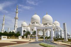 Sheikh Zayed Grand Mosque, Abu Dhabi, United Arab Emirates, Middle East Stock Photos