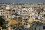 View across Udaipur from the City Palace, Udaipur, Rajasthan, India, Asia Stock Photos