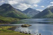 Great Gable, and Yewbarrow, Lake Wastwater, Wasdale, Lake District National Stock Photos