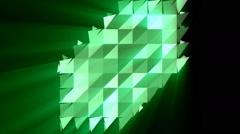 Abstract triangular crystalline background animation Stock Footage