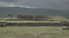 A traditional Tibetan village House outside Lhasa Stock Footage