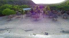 4k aerial at Daaibooi beach, Curacao Stock Footage