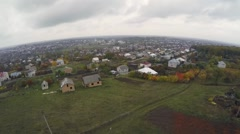Aerial view of Zbarazh Stock Footage