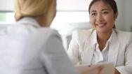 Businesswomen meeting for partnership Stock Footage