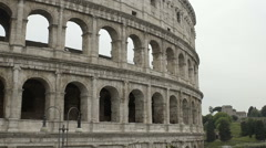 Beautiful exterior of Colosseum, antique ruins of amphitheater, famous landmark Stock Footage