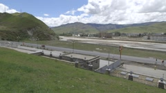Village street view in Tibet Stock Footage
