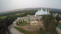 St Dukhovskoi Pochayiv Monastery from bird's eye view Stock Footage