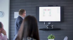 UFA/RUSSIA : Corporate business team in boardroom meeting Stock Footage