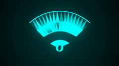 Wifi technology network icon animation Stock Footage