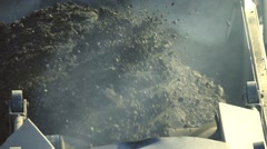 Cold milling machine, close up, slow motion Stock Footage