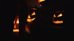 Preparing the pumpkins to helloween Stock Footage