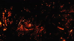 Smouldering embers when burning branches Stock Footage