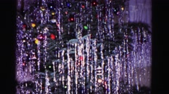 1967: a traditional holiday celebrated by stringing lights and hanging tinsel Stock Footage