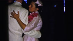 1964: indoor party drinks talk dressed dancing couples family CAMDEN, NEW JERSEY Stock Footage