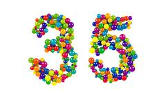 Round rainbow colored balls forming 35 Stock Illustration