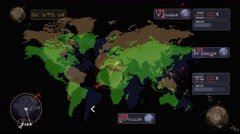 Fantastic interface navigation system Stock Footage
