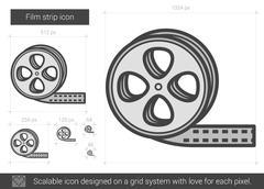 Film strip line icon Stock Illustration