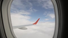 The view from the window of an airliner Stock Footage