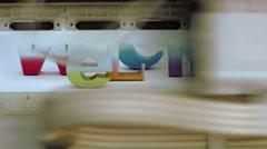 Printhead  printer close-up Stock Footage