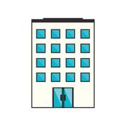 Isolated building with windows design Stock Illustration