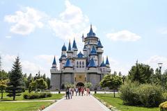 Fairy tale castle in Sazova Science, Art and Cultural Park in Eskisehir City Kuvituskuvat