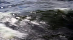 The waves on the river from the bow of the ship Stock Footage