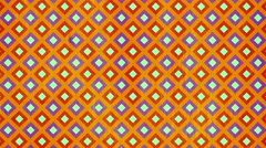 Abstract background loop of Squares in a geometric pixelated mosaic tile pattern Stock Footage