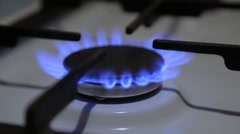 The burner of household cookers Stock Footage