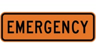 Footage of an emergency sign, the shot is coming into focus Stock Footage