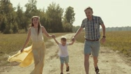 Family having fun with their son Stock Footage