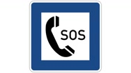 Footage of an SOS traffic sign, the shot is coming into focus Stock Footage