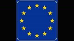 EU country entry-the shot comes into focus and goes out of focus again Stock Footage