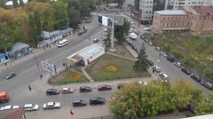 A busy intersection in the city Stock Footage