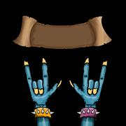Zombie hand shows rock n roll gesture Stock Illustration