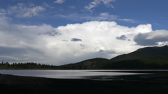 Storm Clouds Retreat over Lake Stock Footage