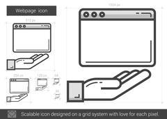 Webpage line icon Stock Illustration