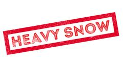 Heavy Snow rubber stamp Stock Illustration